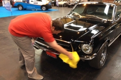 Mike-polishing-the-Mustang