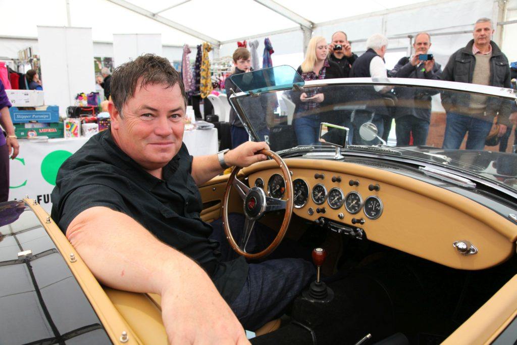 Mike Brewer in the Wheeler Dealer MGA