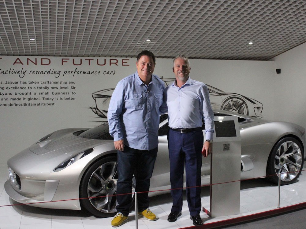 Mike Brewer TV | Photo Gallery | Mike Brewer and Gary Hall from The Coventry Transport Museum