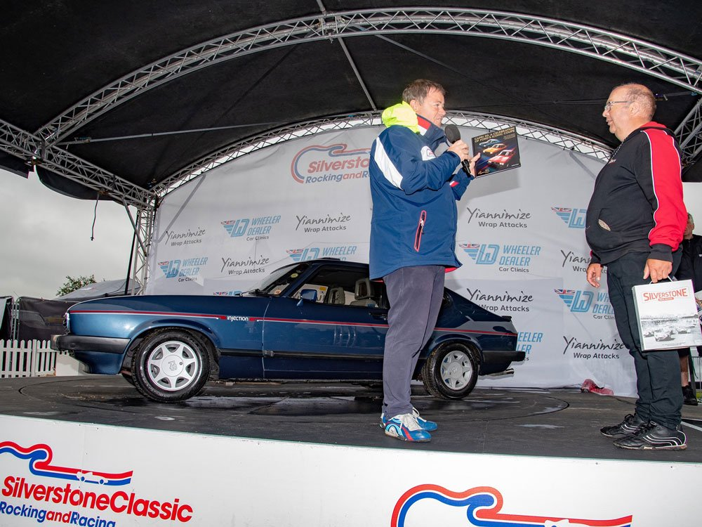 Mike Brewer TV | Photo Gallery | Mike Brewer presenting at Sliverstone Classic