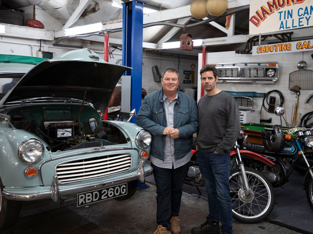 Mike Brewer TV | Photo Gallery | Mike Brewer and Elvis at The Wheeler Dealer Garage